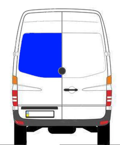 CRL FW624L Rear Cargo Door Window Sprinter Van