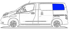 CRL FW812L Rear Quarter Solid Glass Window Nissan NV200 , Chevy City Express 2015-2018
