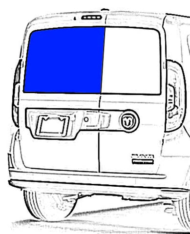 Driver Rear Cargo Door Solid Glass Window Ram ProMaster City