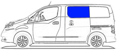 AMA Driver Sliding Door Solid Glass Window Nissan NV200,Chevy City Express 2015-2019