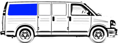 CRL FW422R Passenger Rear Quarter Solid Glass Window Chevrolet Express, GMC Savana Van 1996.5-2017