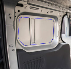 Ford Transit Connect Vaninstall van windows into rear of Transit Connect
