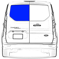 AMA Driver Rear Cargo Door Solid Glass Window Ford Transit Connect Van 2014-2018