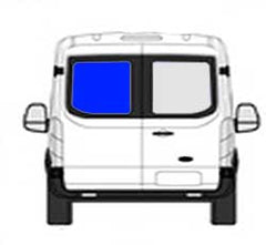 Driver Side Rear Cargo Door Ford Transit-150,Transit-250,Transit-350 Low Roof Van