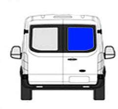 Rear Cargo Door Window Ford Transit-150, Transit-250,Transit-350 Low Roof