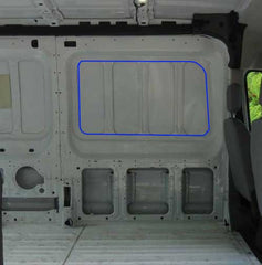 Ford Transit Van cut hole how to install window ford transit van