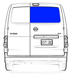 AMA Passenger Rear Cargo Door Glass Window Nissan NV200,Chevy City Express 2015-2019