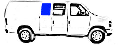 "CRL Fixed ""All Glass Look"" 40% Window for Side Hinged Door - 1992-2018 Ford Econoline Vans 15-1/4"" x 21-3/4"" FW231"