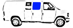 "CRL Fixed ""All Glass Look"" 60% Window for Side Hinged Door - 1992-2018 Ford Econoline Vans 15-1/4"" x 21-3/4"" FW241"