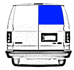 "CRL Fixed ""All Glass Look"" Window for Right Rear Cargo Door 1992-2018 Ford Econoline Vans - 21-11/16"" x 19-7/8"" FW261"