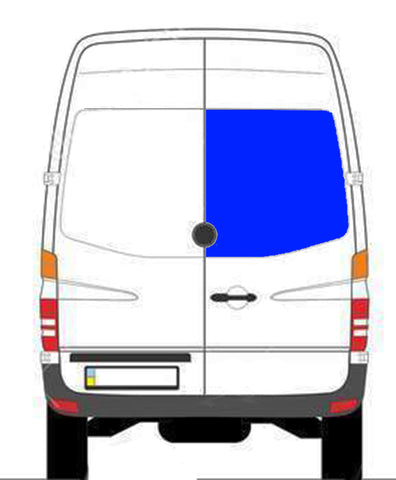 Passenger Rear Cargo Door Window Sprinter Van
