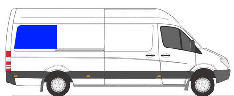 Passenger Rear Quarter Hal Slider Window Sprinter Van