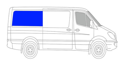 CRL FW627R Passenger Rear Quarter Window Sprinter Van