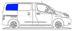 VWD Passenger Rear Quarter Glass Window Nissan NV200,Chevy City Express 2015-2021