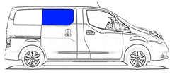 Passenger Side Sliding Door Window Nissan NV200 13-14