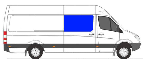 Passenger Side Sliding Door Half Slider Window Sprinter Van
