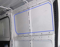 Ram ProMaster Van cut line for Van Windows
