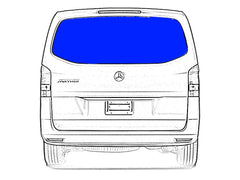 Mercedes-Benz Metris Tailgate Rear Window