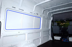 Sprinter Van Cargo Interior, How to install window in sprinter van.