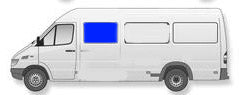 "118"", 140"" and 158"" Wheel Base (Low or High Roof) Sliding Window Sprinter"