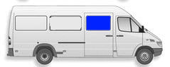 "AMA Passenger Sliding Door Solid Glass Window Sprinter Van 2003-2006  118"", 140"" and 158"" Wheel Base (Low or High Roof)"