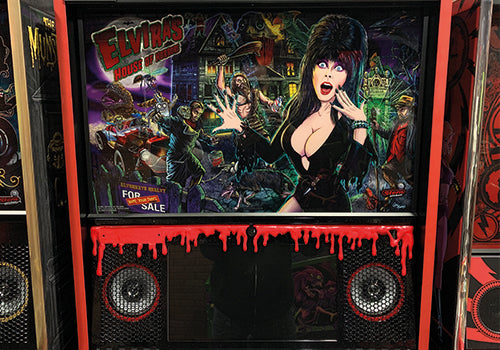 Elvira Pinball Sripping Blod/Slime Speaker Panel Mod