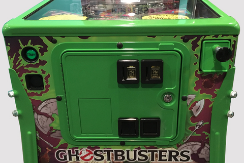 Ghostbusters LE Slime Green Powder Coat Service Coin Door/Shooter Housing