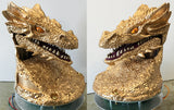 Smaug Head Gold Paint Job