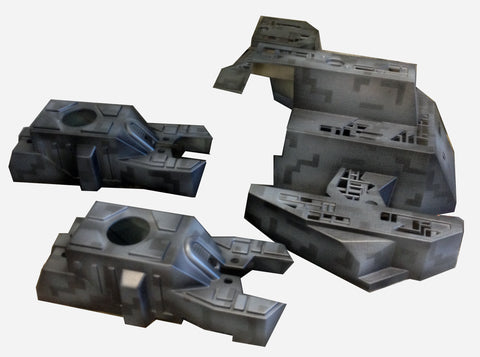 Borg Ship and Cannons Paint Job