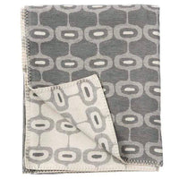 Klippan Home Decor Grey Doris, Organic Brushed Cotton Blanket