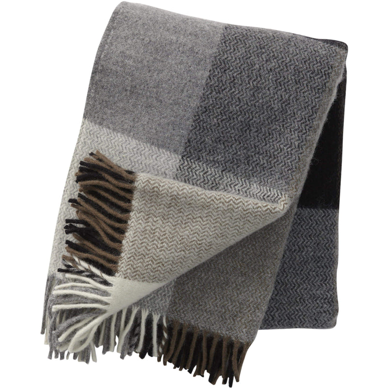 Klippan Home Decor Inez Throw Grey - 100% lamb's wool