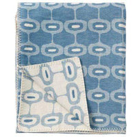 Klippan Home Decor Petrol Doris, Organic Brushed Cotton Blanket