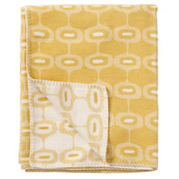 Klippan Home Decor Yellow Doris, Organic Brushed Cotton Blanket