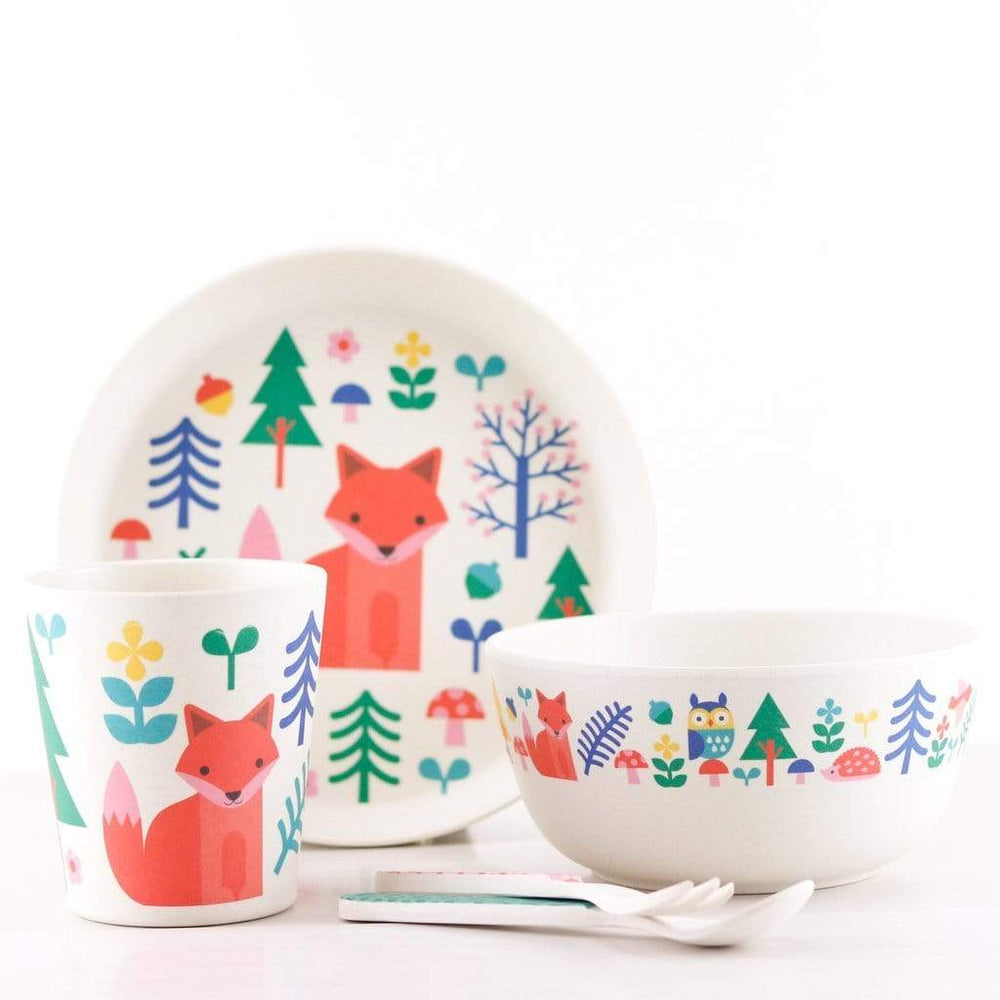 Petit Collage Kitchen & Dining Forest Bamboo Dinner Set