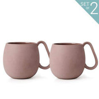 Viva Kitchen & Dining Powder Brown Nina Mugs - Set of 2