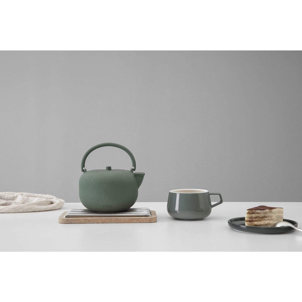 Viva Kitchen & Dining Saga Cast Iron Tea Pot - Pine Green
