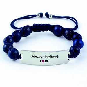 Always believe, motivational bracelet, gemstone bracelet, gift for her, women's bracelet, motivational gift, sports bracelet