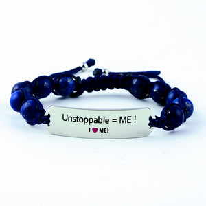 Unstoppable, motivational gemstone bracelet, gemstone bracelet, women's bracelet, gift for her