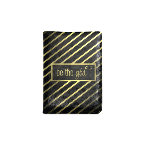 "Be The Girl Black & Gold Striped Notebook (5.5"" x 8.5"")"