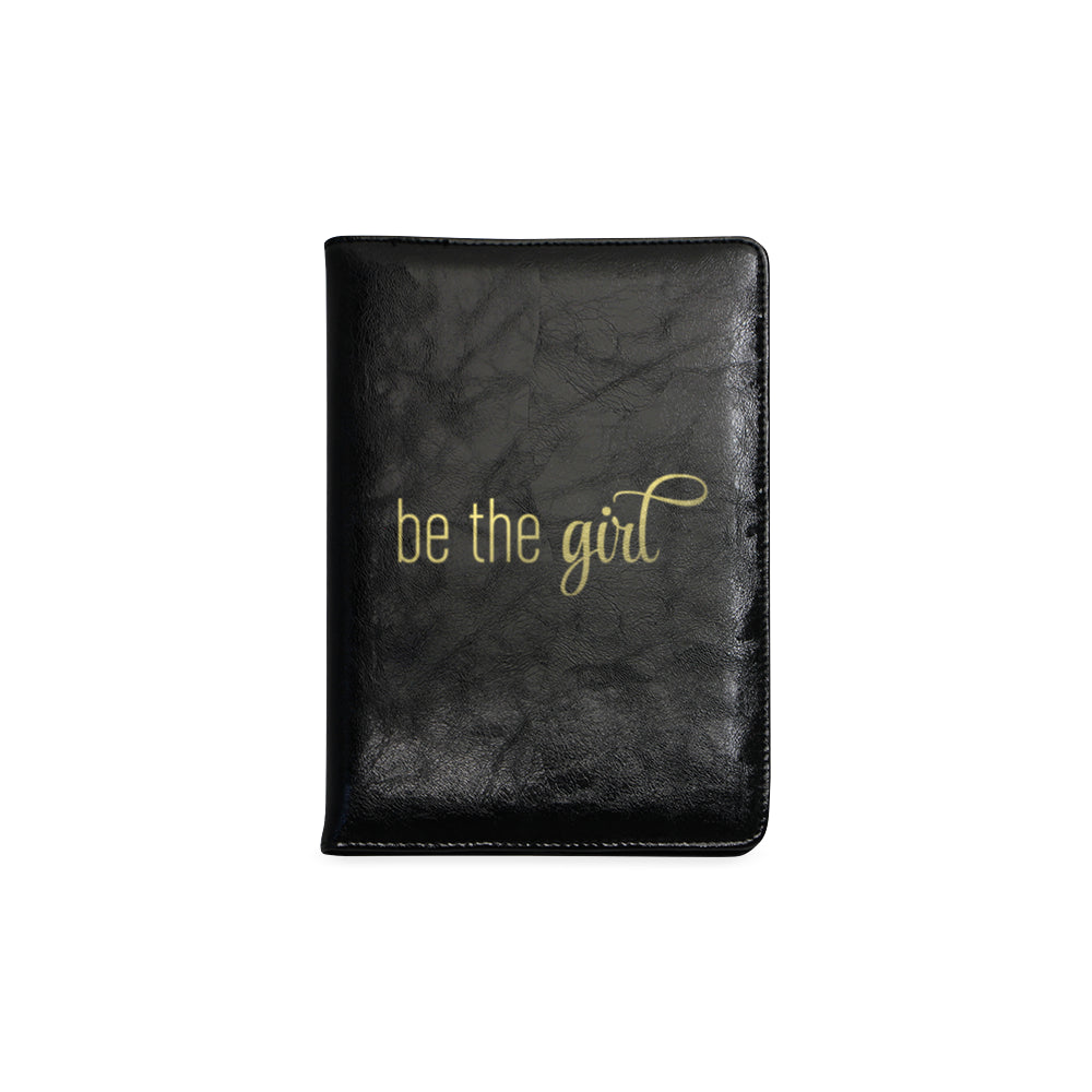 "Be The Girl Black & Gold Notebook (5.5"" x 8.5"")"