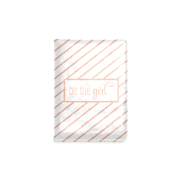"Be The Girl Rose Gold & White Notebook (5.5"" x 8.5"")"