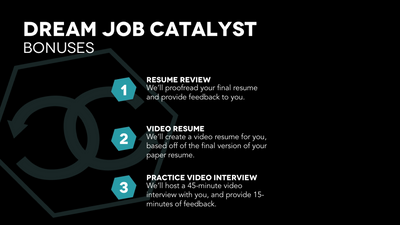 Dream Job Catalyst - Webinar Special