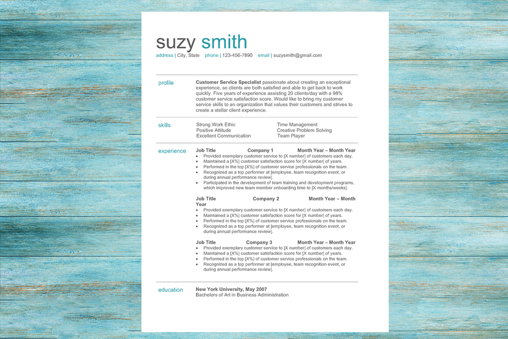 The Rockstar Resume Templates