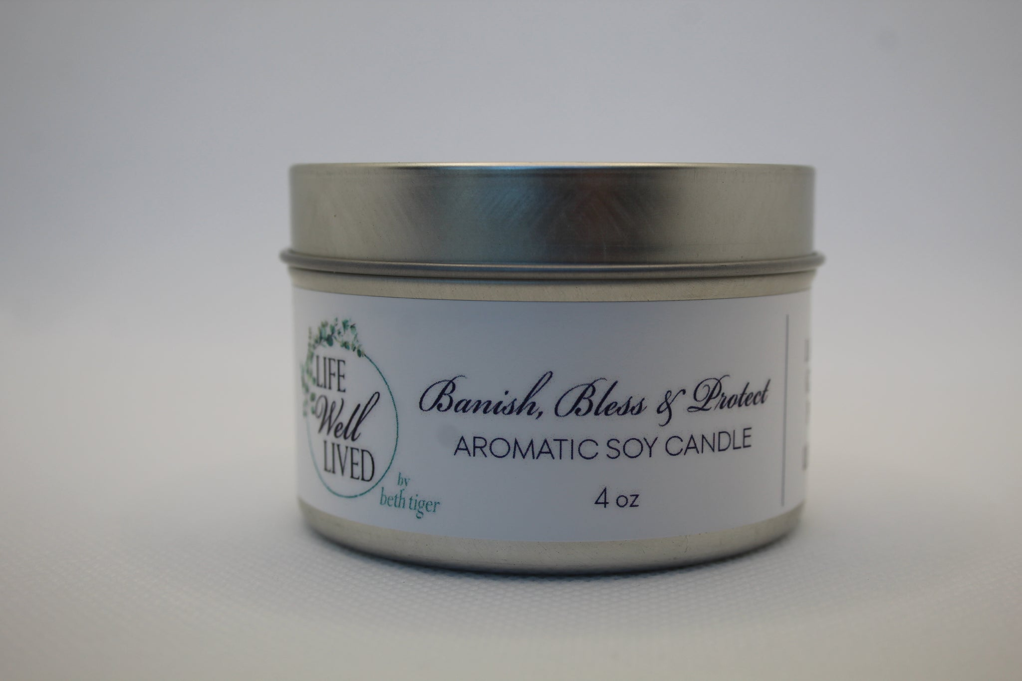 BANISH, BLESS & PROTECT 4oz. Soy Travel  Candle
