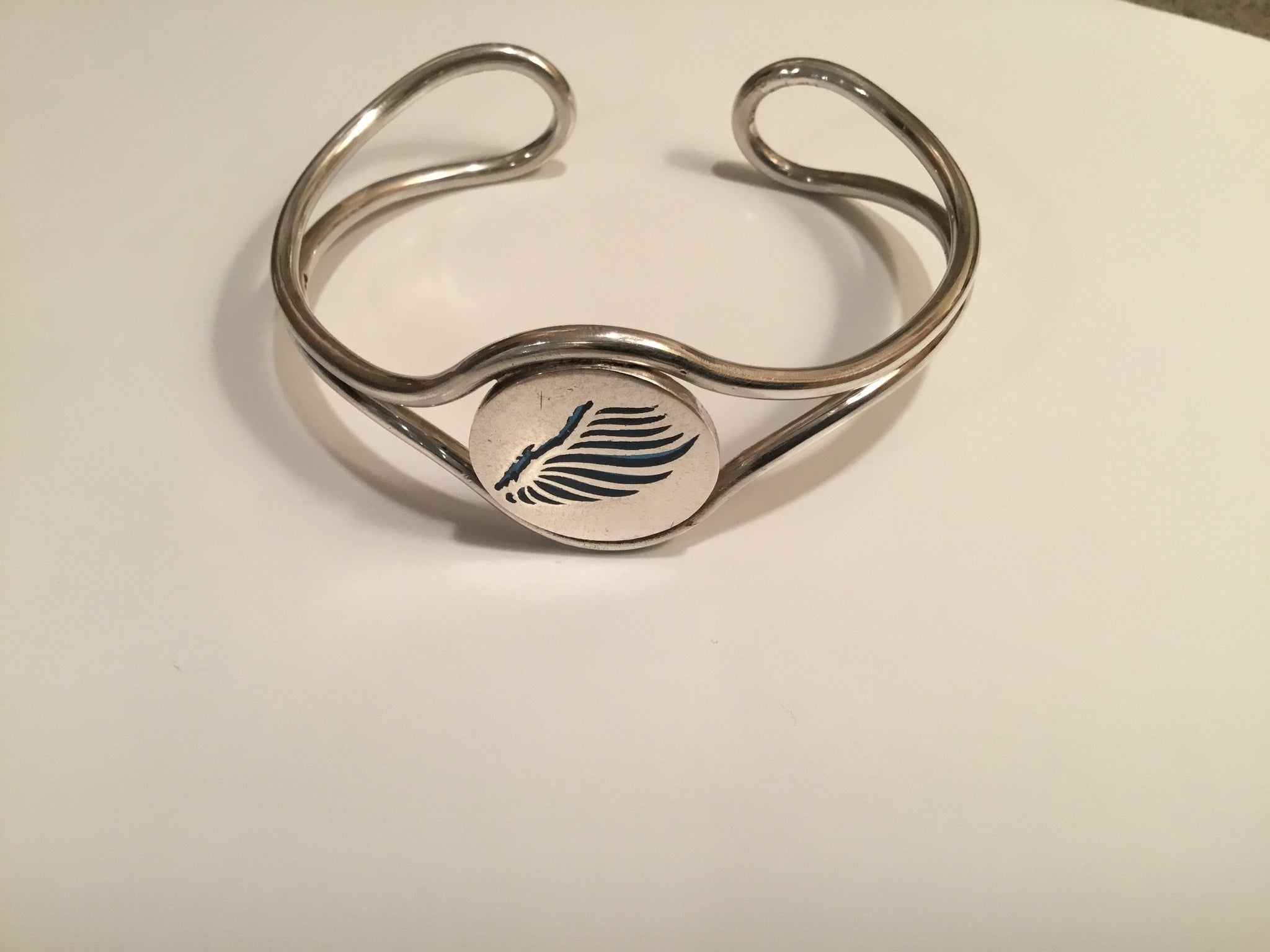 Lake George Angel Sterling Silver Cuff Bracelet