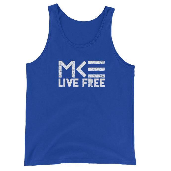 MKE Live Free Blue Unisex Tank by MKE Outfitters