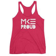 Pink MKE Proud women's tank top by MKE Outfitters