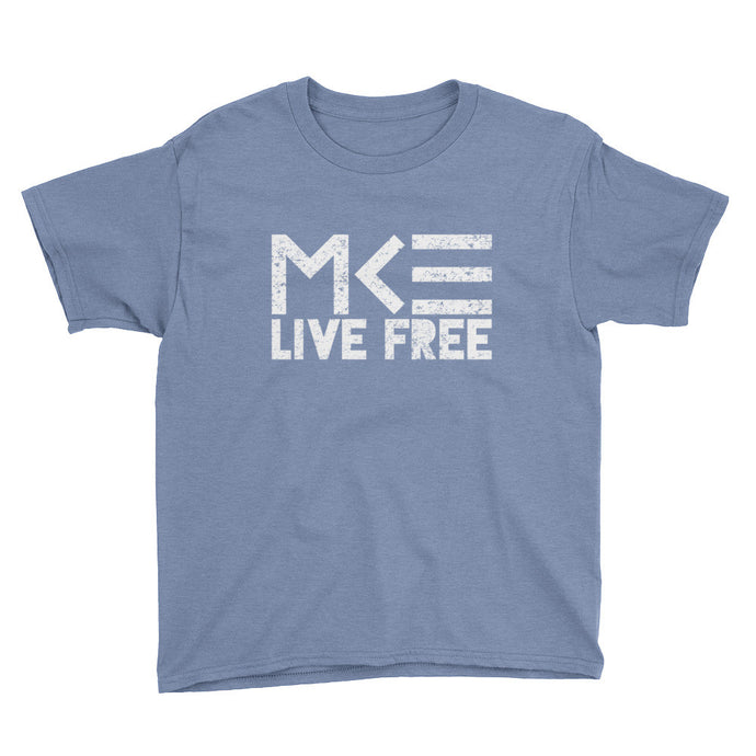 Milwaukee Kids T-shirt in light blue, Live Free by MKE Outfitters