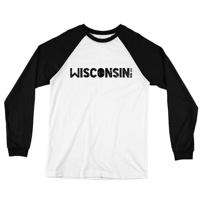 WISCONSIN EST 1848 Long Sleeve Baseball T-Shirt