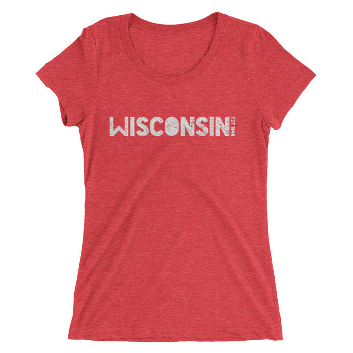 WISCONSIN EST 1848 Ladies' short sleeve t-shirt